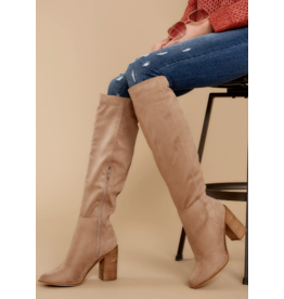 Shoes 54 Suede My Way Tall Taupe Boots