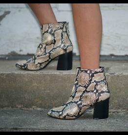 Shoes 54 Snake Beige/Black Bootie