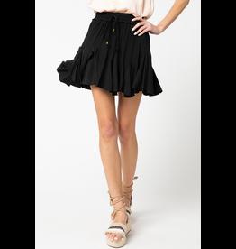 Skirts 62 Right On Black Ruffle Skort