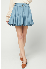 Skirts 62 Right On Blue Ruffle Skort
