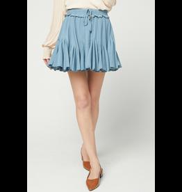 Skirts 62 Right On Blue Ruffle Skort