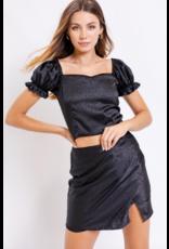 Skirts 62 Satin Dream Black Leopard Skirt