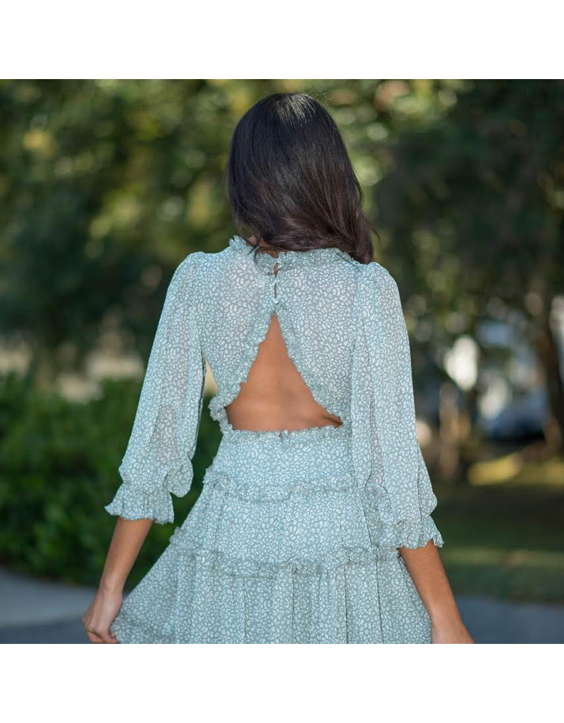 Dresses 22 Ruffle Romance Open Back Dress