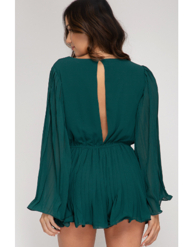 Rompers 48 Teal Forever Pleated Romper