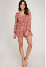 Rompers 48 Pretty Fall Prints Rust Romper