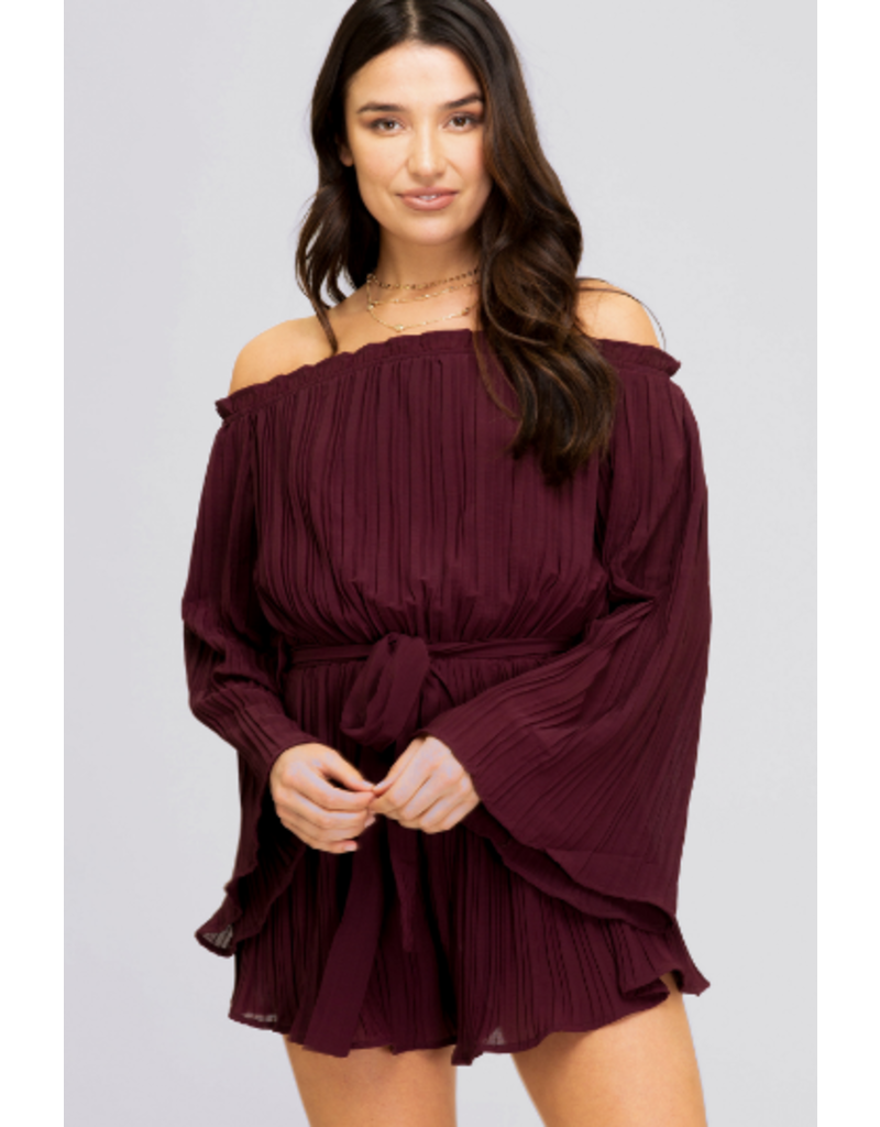 Rompers 48 Pretty Plum Pleated Romper