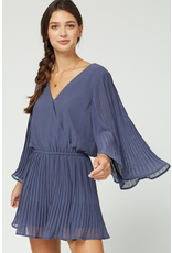 Rompers 48 Dusty Blue Pleated Romper