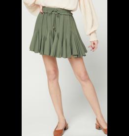 Skirts 62 Ruffle Around Olive Skort