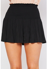 Skirts 62 Black Smocked Skort
