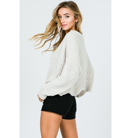 Tops 66 Chenille Dream Ivory Sweater