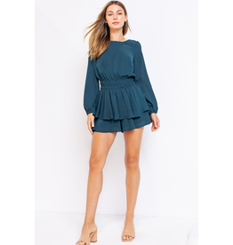 Rompers 48 Time For Teal Open Back Romper