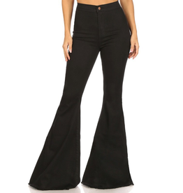 Pants 46 Black Flares No Distress