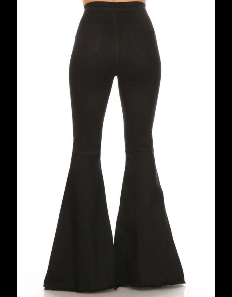 Pants 46 Black Flares No Distress