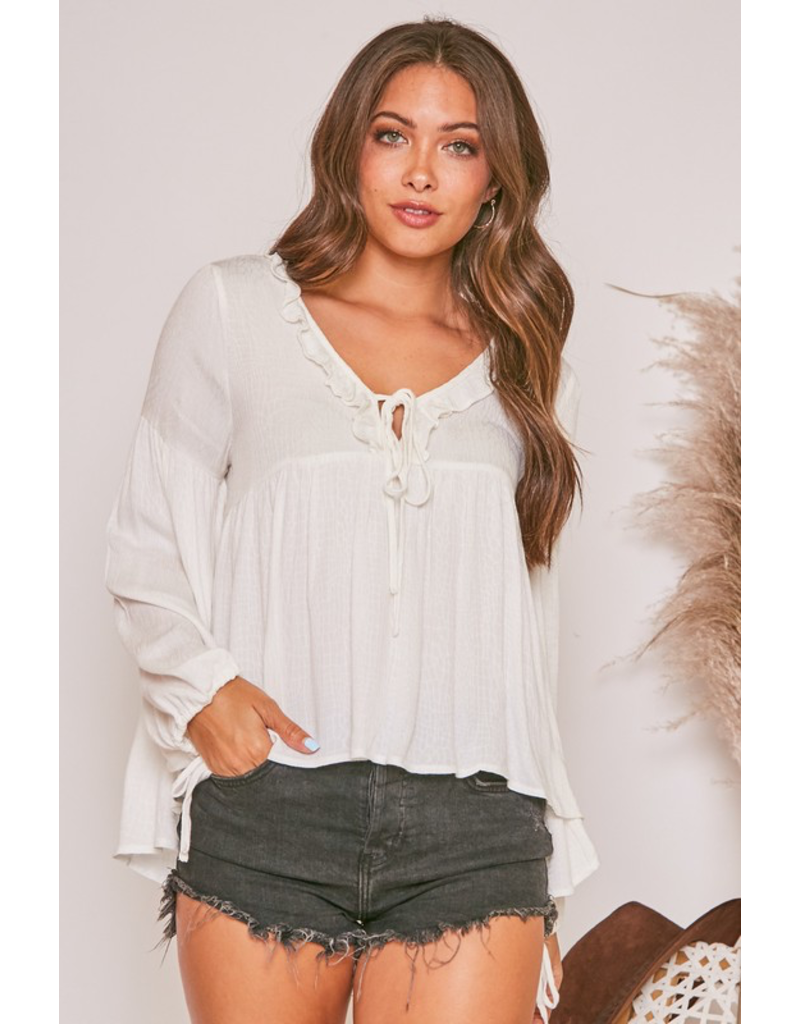 Tops 66 Subtle Snake Ivory Top