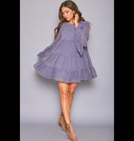 Dresses 22 Blue Baby Doll Leopard Dress