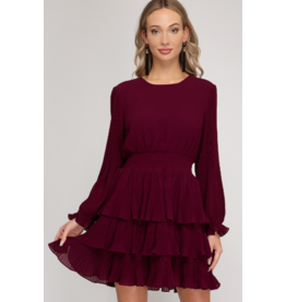 Dresses 22 Capture The Moment Plum Ruffle Dress