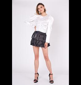 Skirts 62 Let's Party Black Satin Skirt