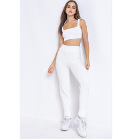 Pants 46 Comfy Cozy White Fleece Joggers
