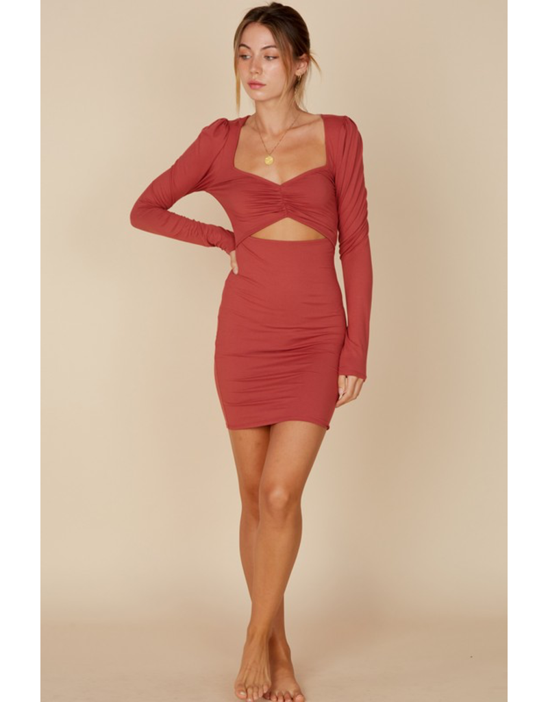 Dresses 22 Open To It Brick Dress