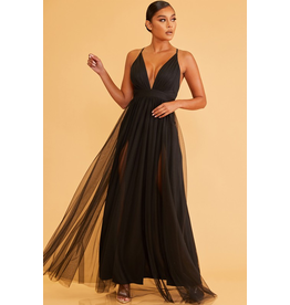 Formalwear Tulle Occasion Black Dress