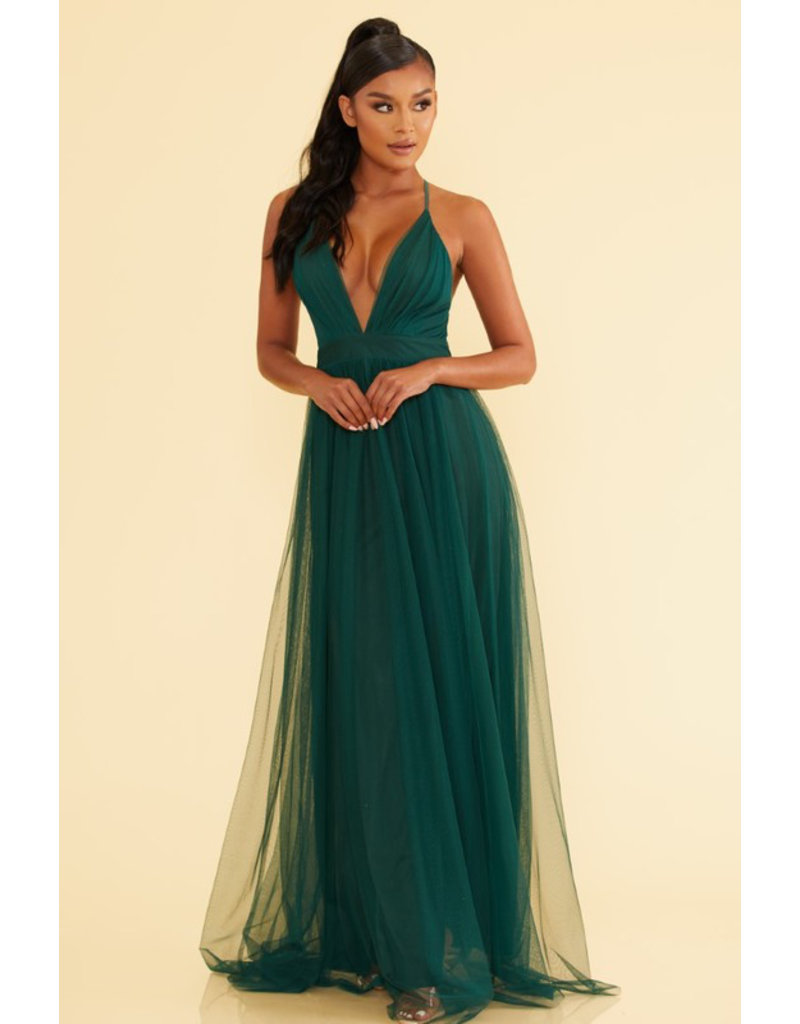 Dresses 22 Tulle Occasion Hunter Green Tulle Dress