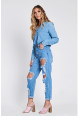 Pants 46 Get Going High Waisted Distressed Denim