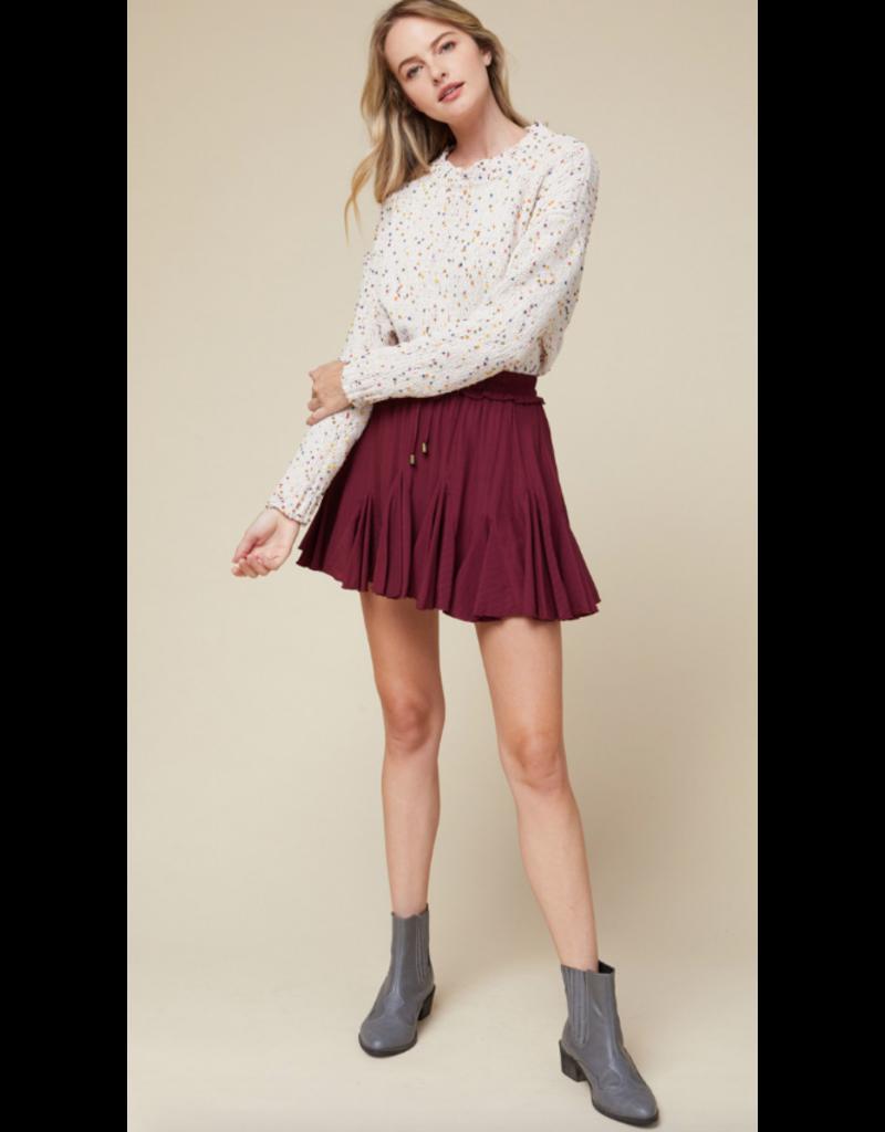 Skirts 62 Best Of Burgundy Ruffle Skort