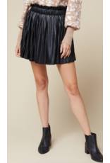 Skirts 62 Pretty Pleats Black Leather Skort