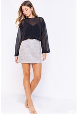 Skirts 62 Soft Suede Leopard Skirt