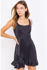Rompers 48 Party Perfect Black Satin Romper