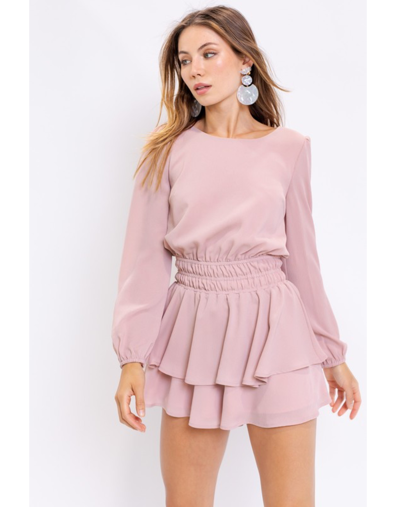 Rompers 48 Blush With Me Open Back Romper