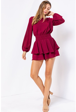 Rompers 48 Cranberry Crush Open Back Romper