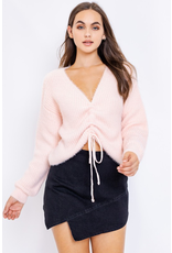 Tops 66 Soft Baby Pink Ruched Sweater