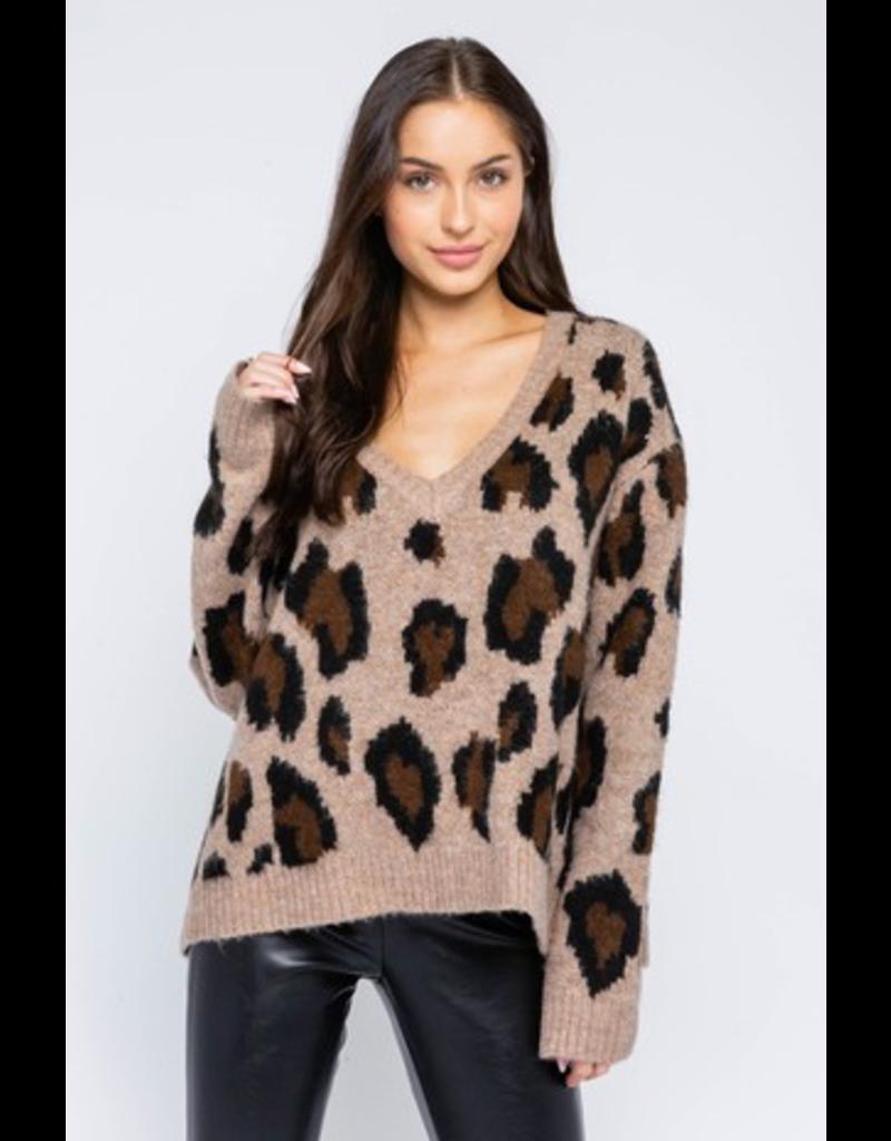 Tops 66 Oh Roar Leopard Sweater