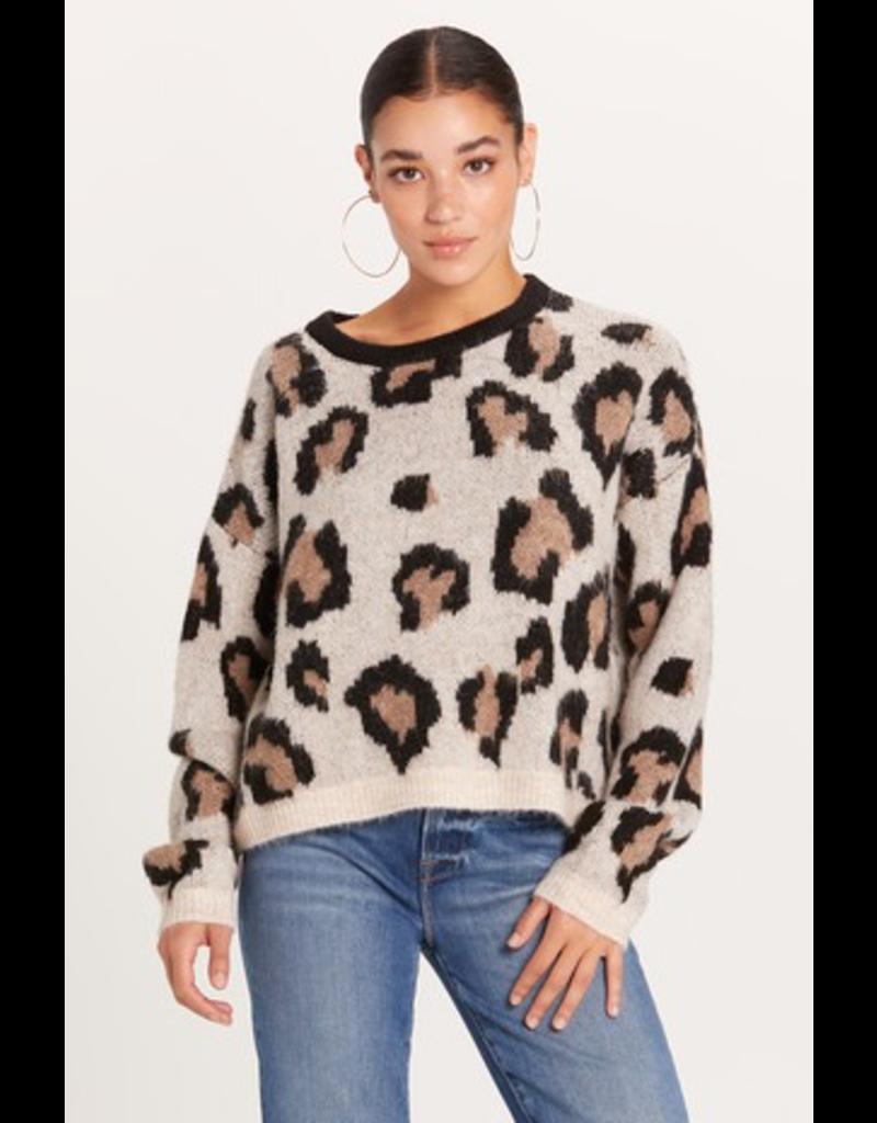 Tops 66 Fuzzy Leopard Sweater