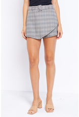 Skirts 62 Fall Plaid Belted Skort