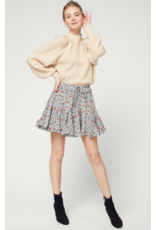 Skirts 62 Fall Flouncy Blue/Tan Pattern Skort