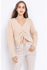 Tops 66 Soft Beige Ruched Sweater