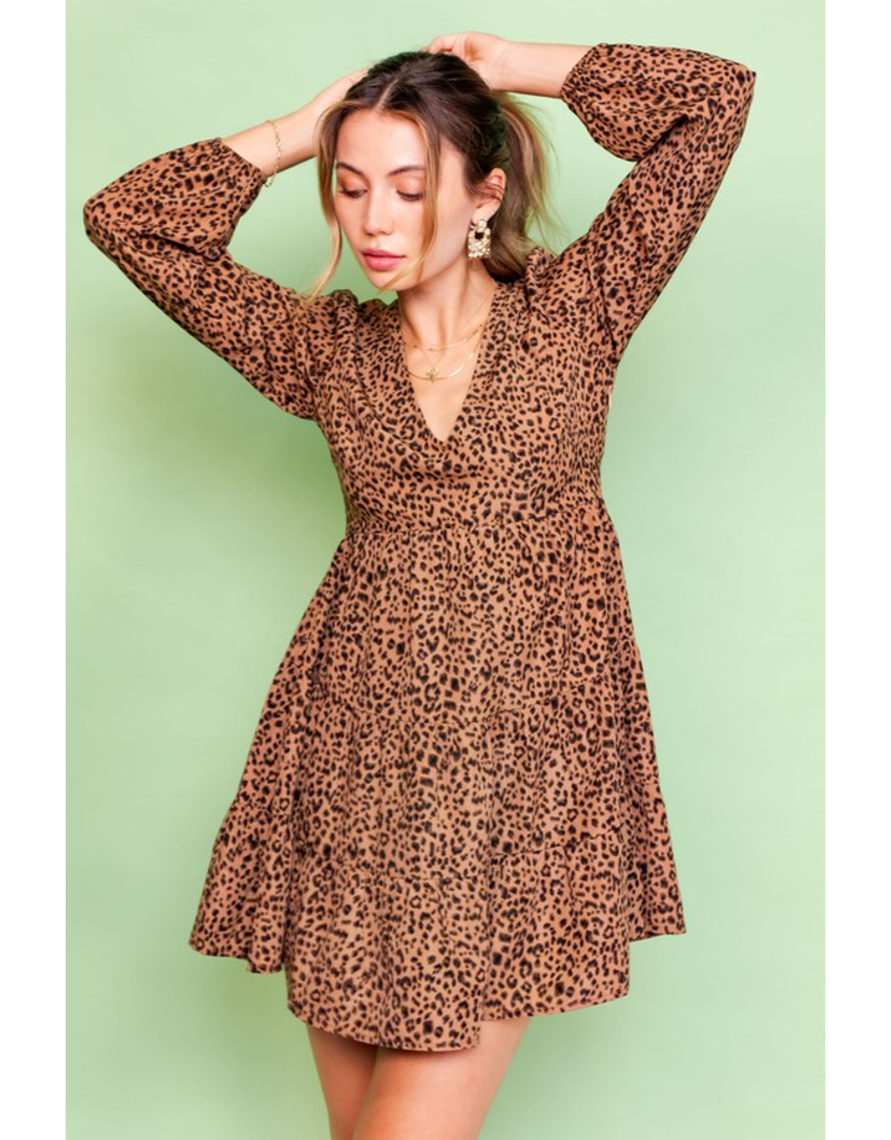 Dresses 22 Wild About It Leopard Baby Doll Dress