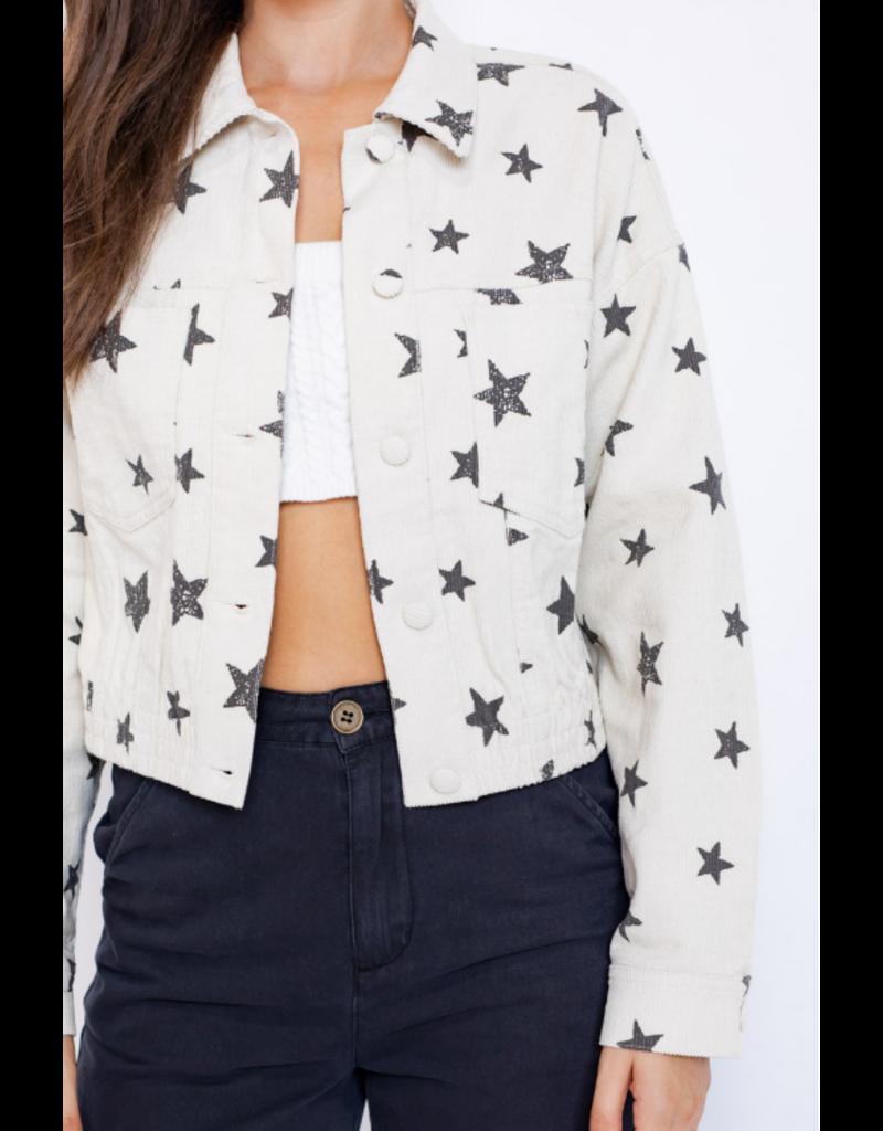 Outerwear Star Power Ivory/Grey Jacket