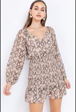 Dresses 22 Taupe Snake Smock Dress