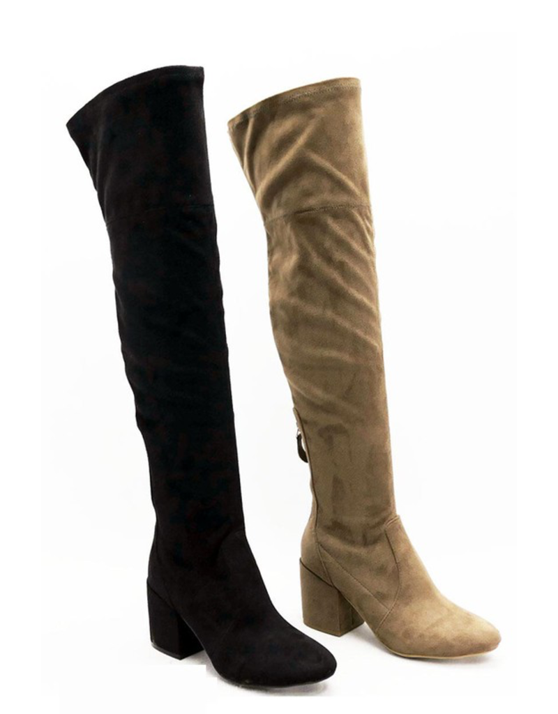 Shoes 54 Best Of All Black Suede Tall Boots