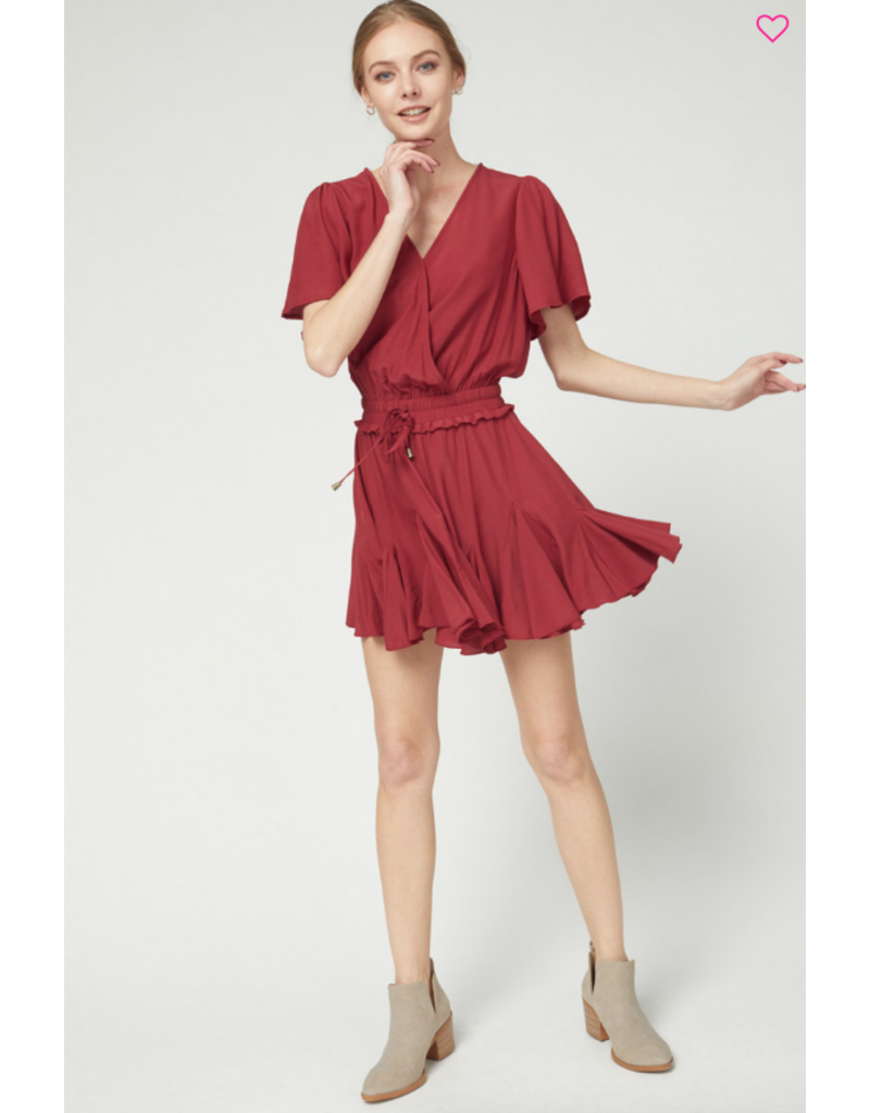 Rompers 48 Fall Chill Burgundy Romper
