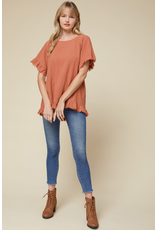 Tops 66 All The Fall Feels Rust Top