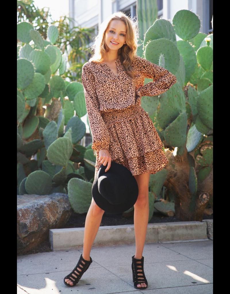Dresses 22 Leopard Smocked Fall Dress
