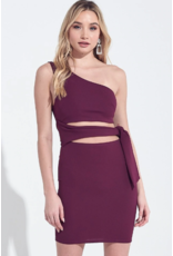 Dresses 22 Best Impression One Shoulder Plum Dress