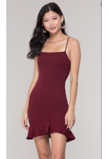 Dresses 22 Ruffle Around Burgundy Dress