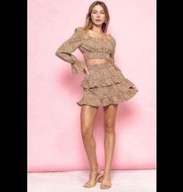 Skirts 62 Lots Of Love Leopard Smock Skirt
