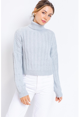Tops 66 Chilly Weather Grey Turtle Neck Sweater
