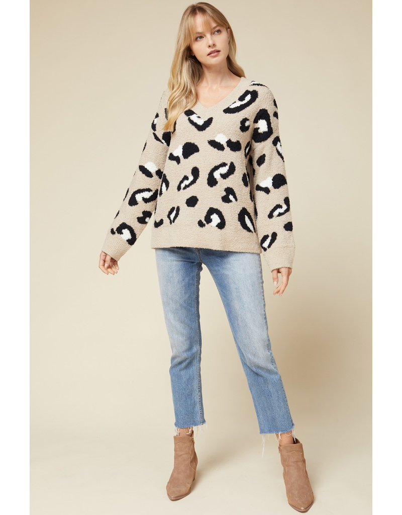 Tops 66 Soft and Cuddly Leopard Sweater